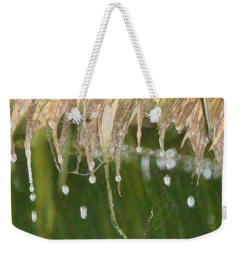 Bali Weekender Tote Bag featuring the photograph Tropical Bali Rain by Mark Sellers