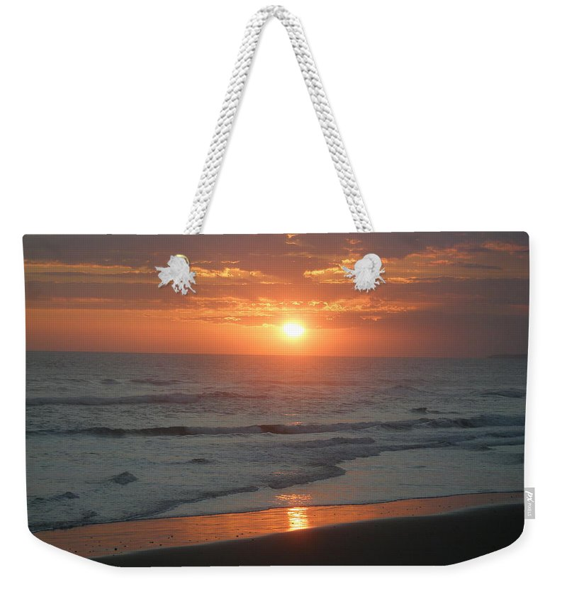 Bali Weekender Tote Bag featuring the photograph Tropical Bali Sunset by Mark Sellers