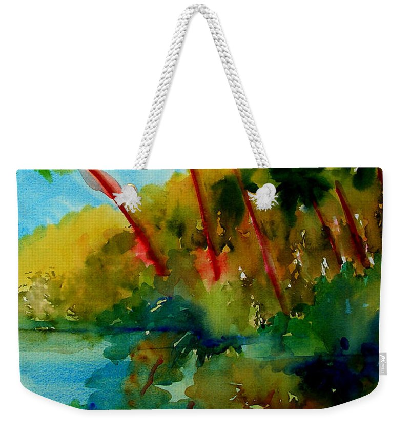 Art Weekender Tote Bag featuring the painting Tropical Canal by Julianne Felton