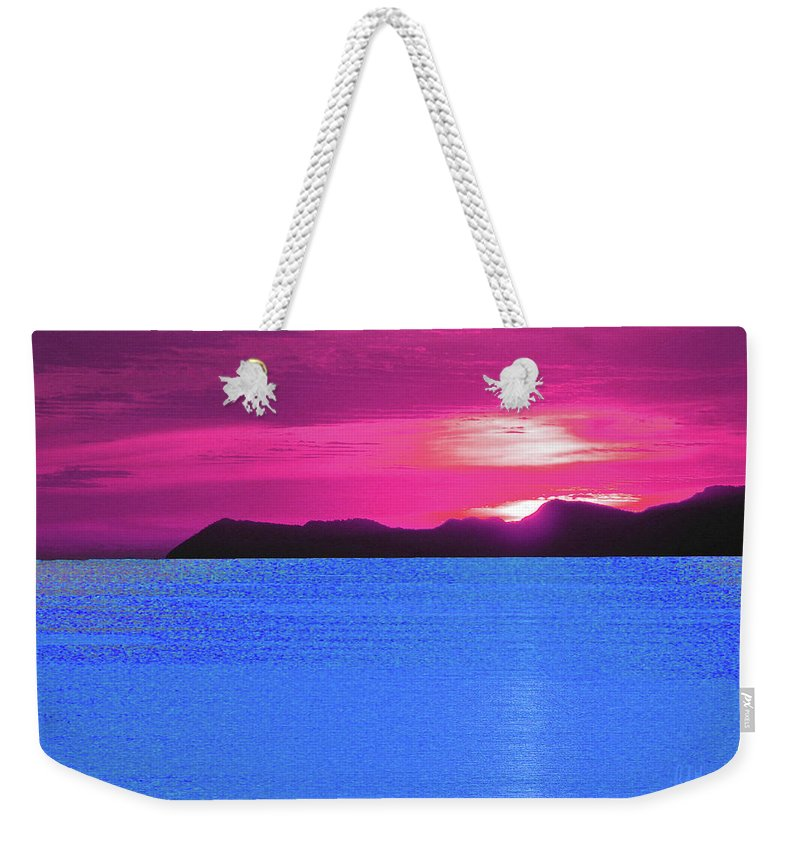 South East Asia Weekender Tote Bag featuring the digital art Tropical Delight by John Brennan