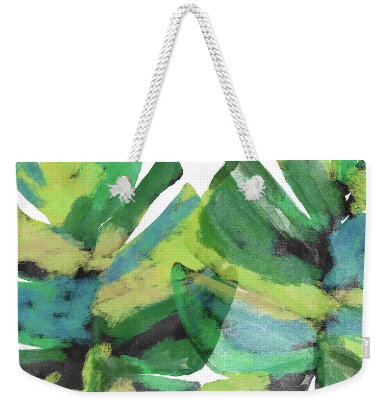 Tropical Weekender Tote Bag featuring the mixed media Tropical Dreams 1- Art by Linda Woods by Linda Woods