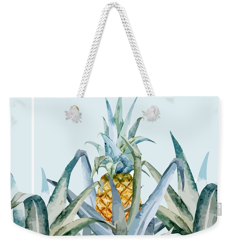 Summer Weekender Tote Bag featuring the painting Tropical Feeling by Mark Ashkenazi