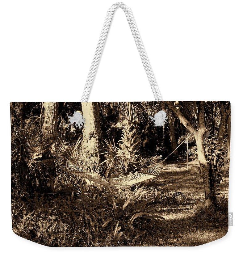 Hammock Weekender Tote Bag featuring the photograph Tropical Hammock by Susanne Van Hulst