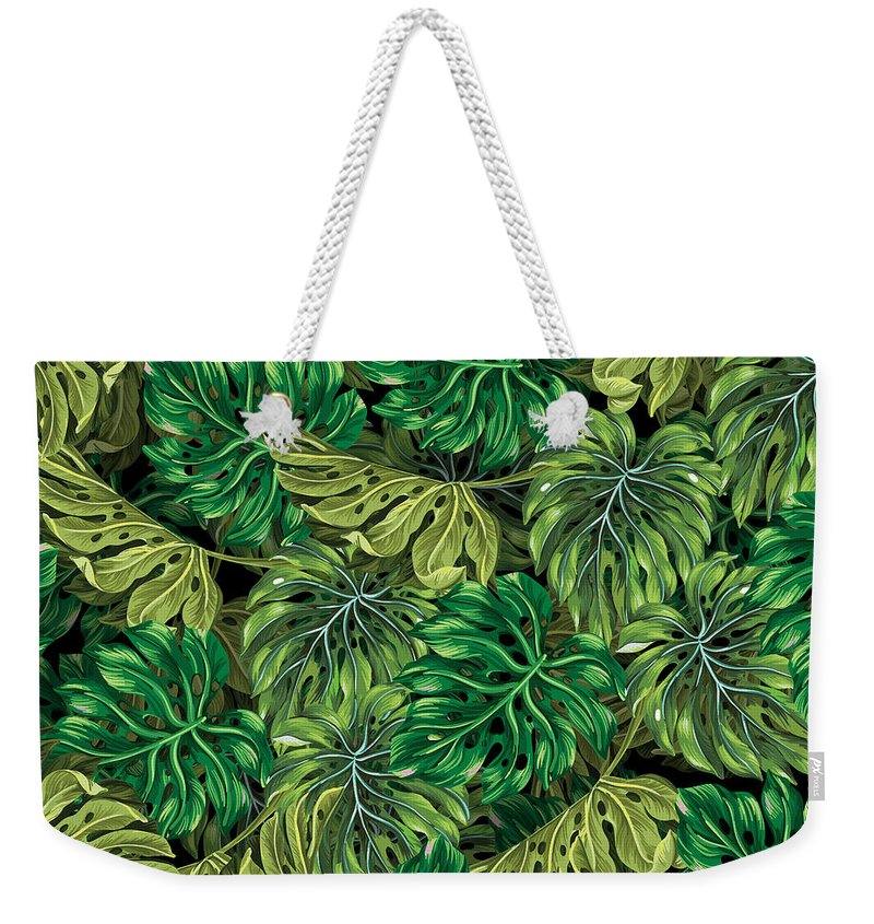 Summer Weekender Tote Bag featuring the photograph Tropical Haven 2 by Mark Ashkenazi