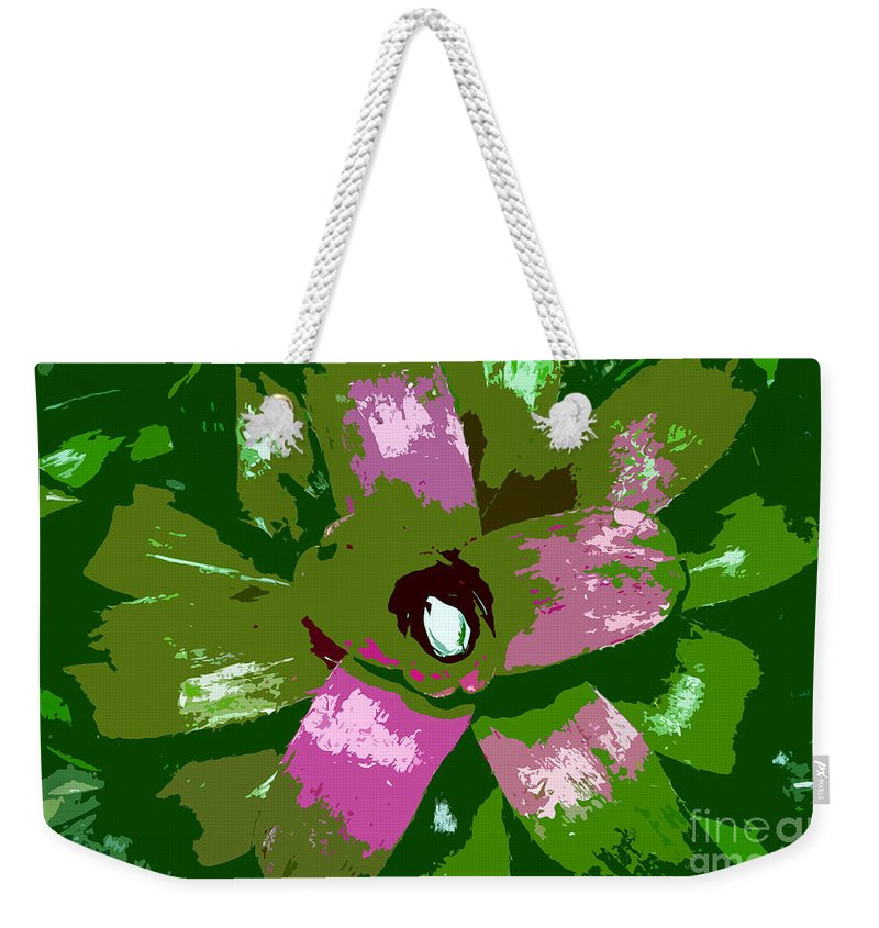 Tropical Weekender Tote Bag featuring the photograph Tropical Plant Work Number 5 by David Lee Thompson