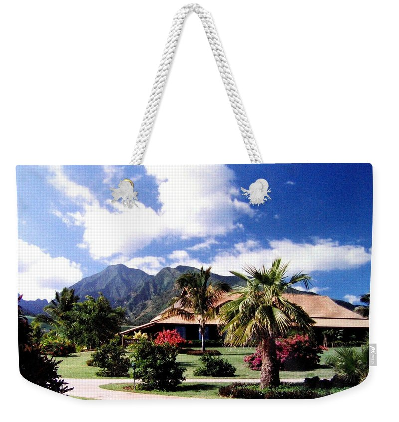 1986 Weekender Tote Bag featuring the photograph Tropical Plantation by Will Borden
