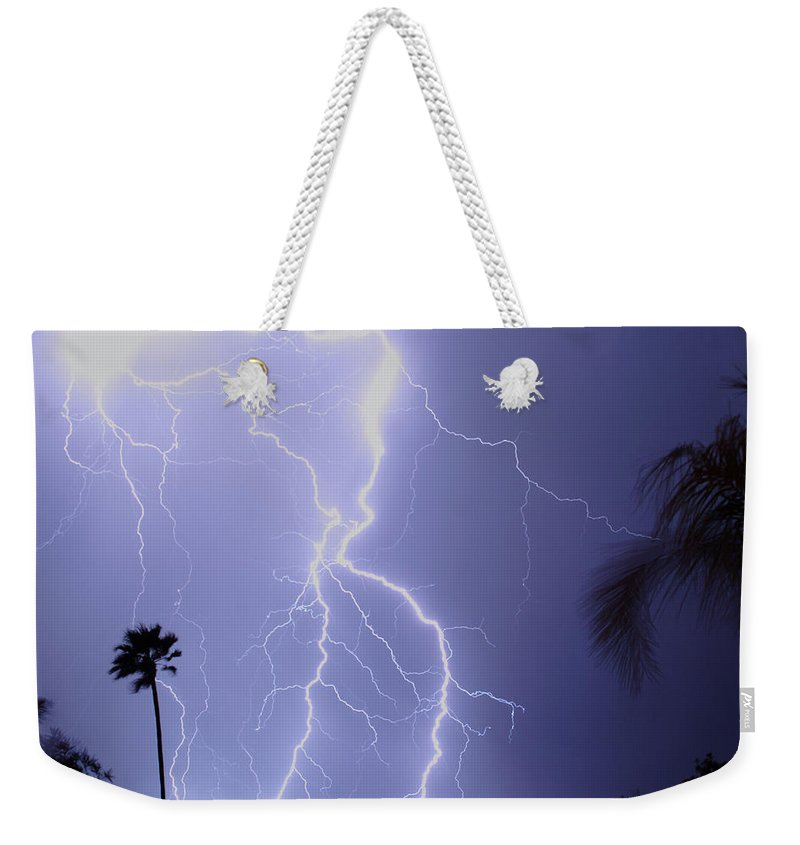 Lightning Weekender Tote Bag featuring the photograph Tropical Storm Ll by James BO Insogna