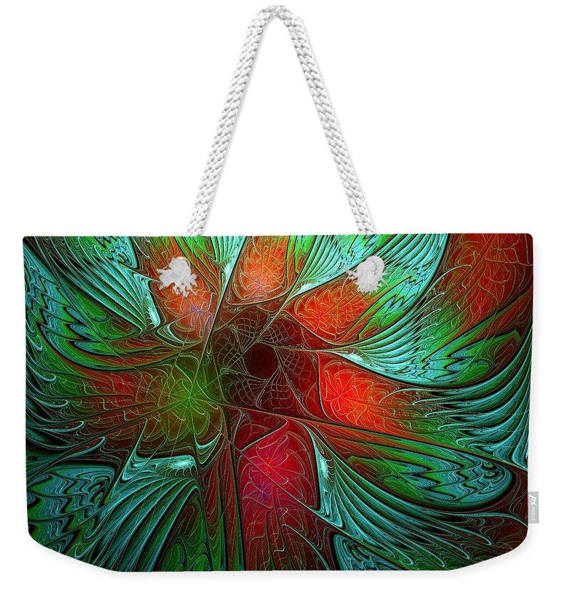 Digital Art Weekender Tote Bag featuring the digital art Tropical Tones by Amanda Moore