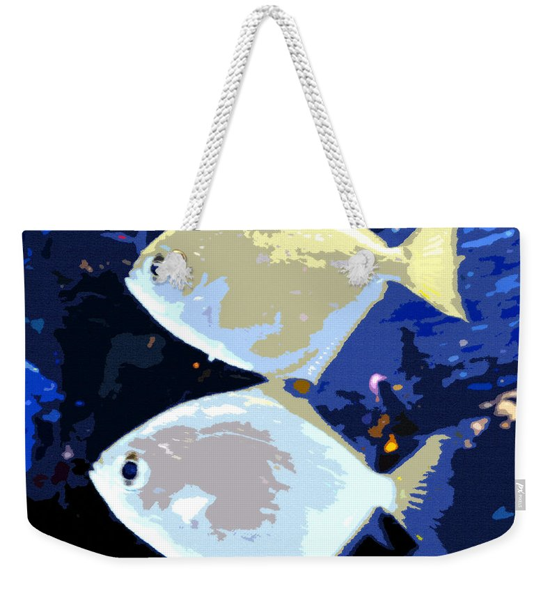Art Weekender Tote Bag featuring the painting Tropical Twins by David Lee Thompson