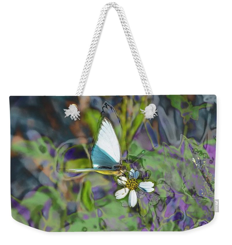 Tropical White Weekender Tote Bag featuring the photograph Tropical White by Janal Koenig