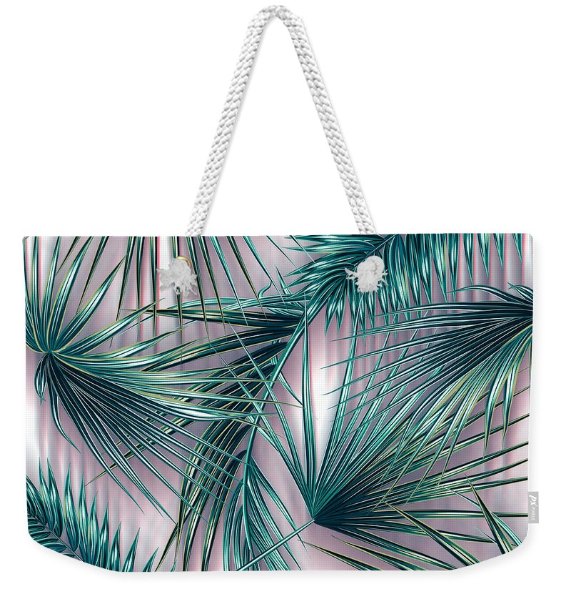 Green Color Weekender Tote Bags