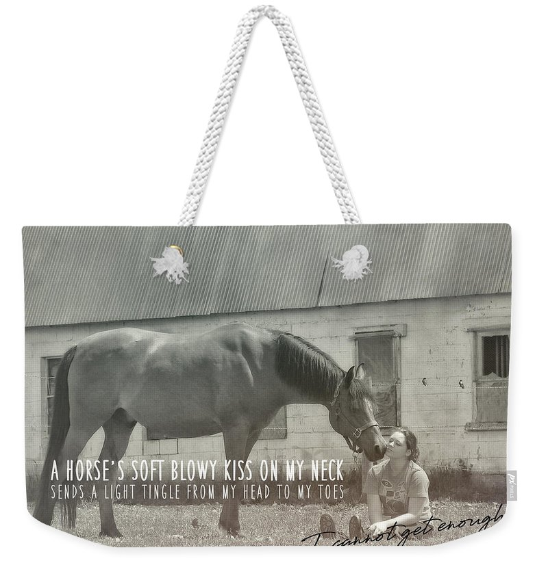 Horse Weekender Tote Bag featuring the photograph Truest Companion Quote by JAMART Photography
