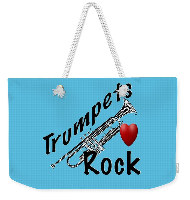 Trumpet Weekender Tote Bag featuring the photograph Trumpets Rock by M K Miller