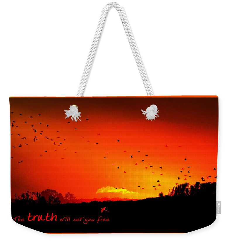 Landscape Weekender Tote Bag featuring the photograph Truth by Holly Kempe