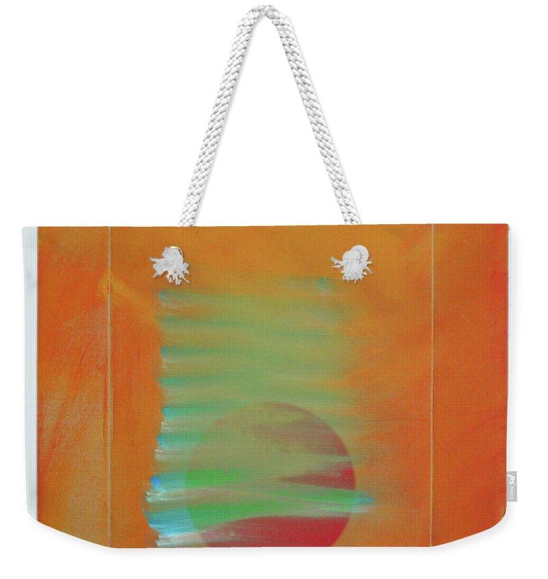 Tsunami Weekender Tote Bag featuring the painting Tsunami by Charles Stuart