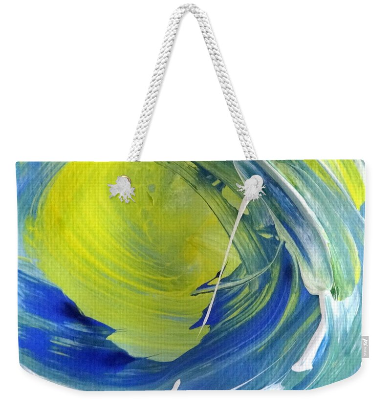 Surf Weekender Tote Bag featuring the painting Tube #4 by Fred Wilson