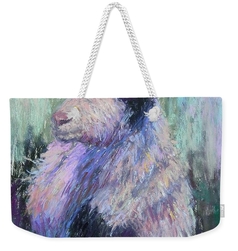Farm Animals Weekender Tote Bag featuring the painting Tucker Redux by Susan Williamson