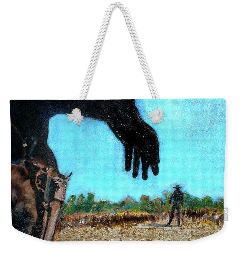 Tuco Weekender Tote Bag featuring the painting Tuco by Seth Weaver