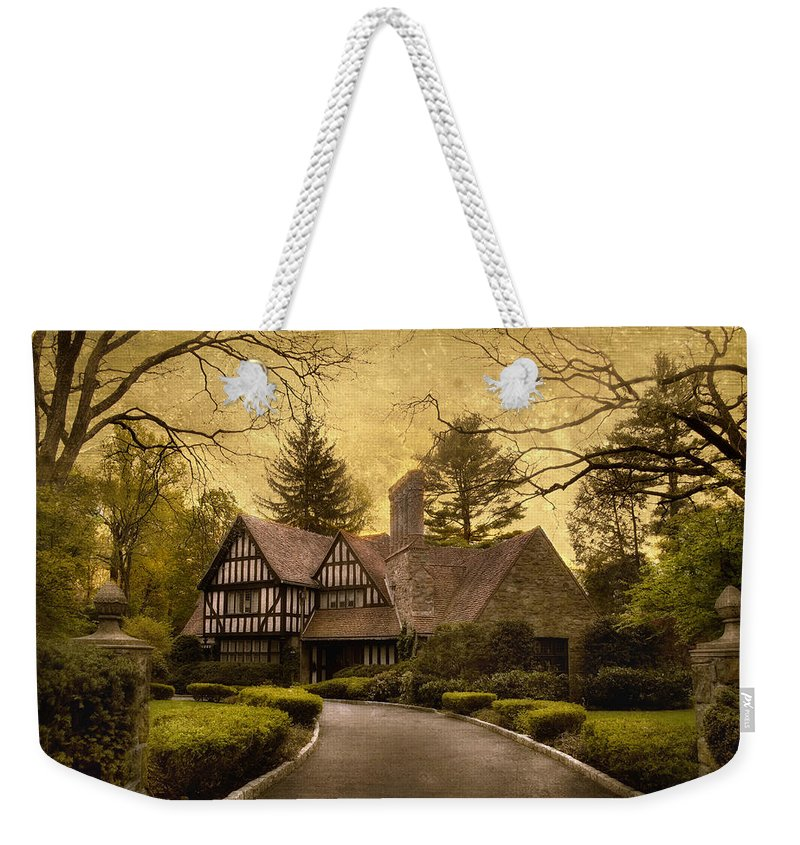House Home Weekender Tote Bag featuring the photograph Tudor Estate by Jessica Jenney