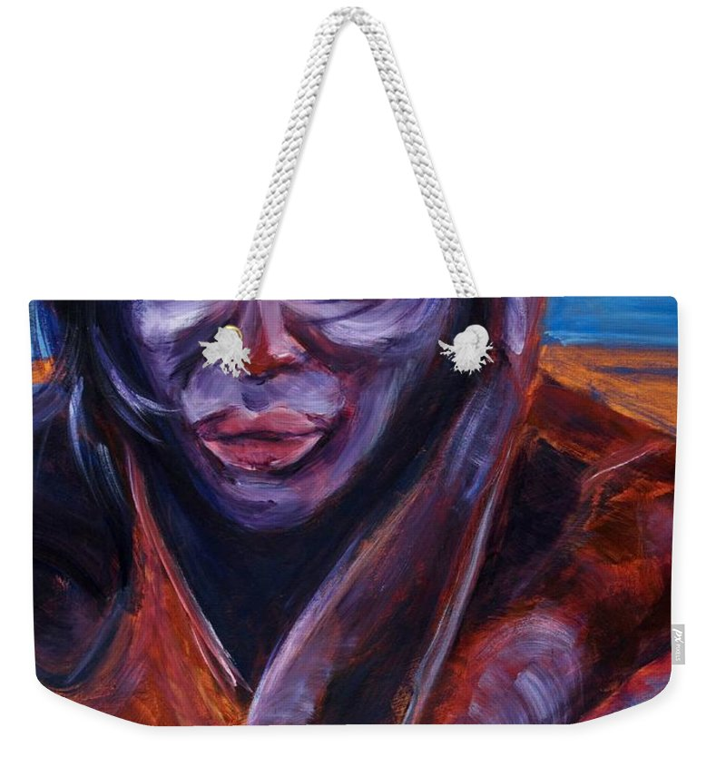 Girl Weekender Tote Bag featuring the painting Tuesday by Jason Reinhardt