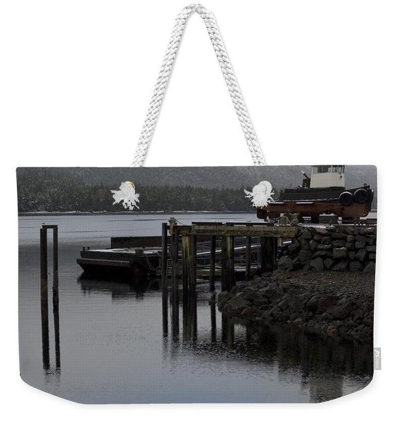 Ocean Weekender Tote Bag featuring the photograph Tug Boat by Sara Stevenson