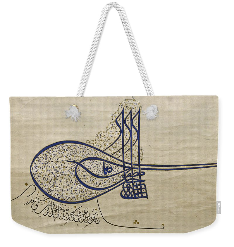Tughra Weekender Tote Bag featuring the photograph Tughra Of Suleiman The Magnificent by Ayhan Altun