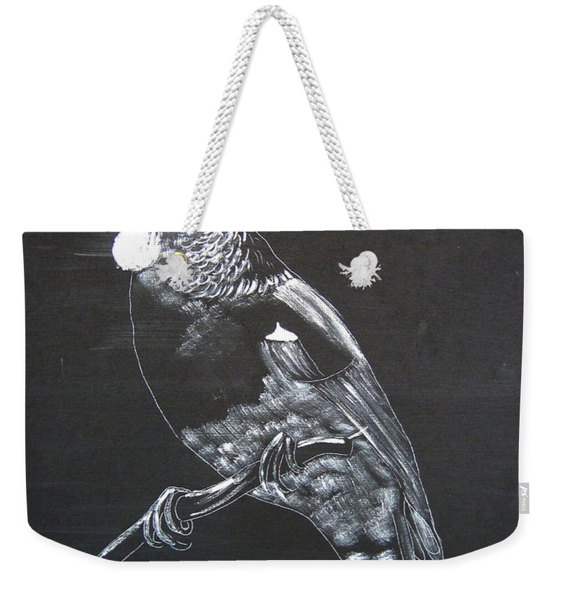 Tui Weekender Tote Bag featuring the painting Tui by Richard Le Page