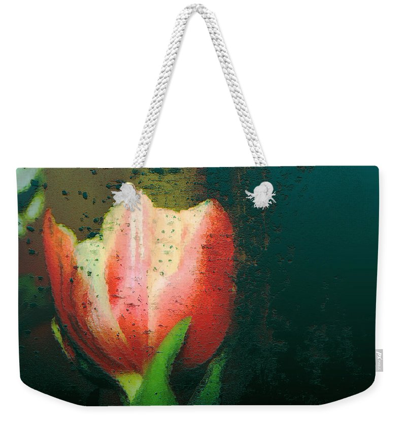 Tulip Weekender Tote Bag featuring the photograph Tulip Of Love by Linda Sannuti