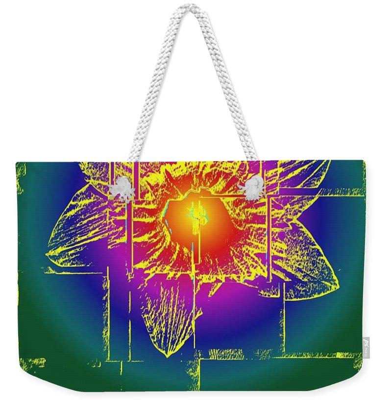 Tulip Weekender Tote Bag featuring the digital art Tulip by Tim Allen