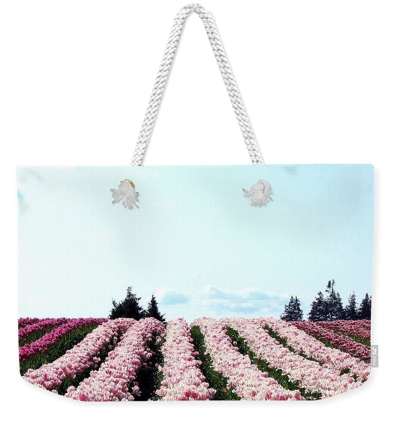 Agriculture Weekender Tote Bag featuring the photograph Tulip Town 10 by Will Borden