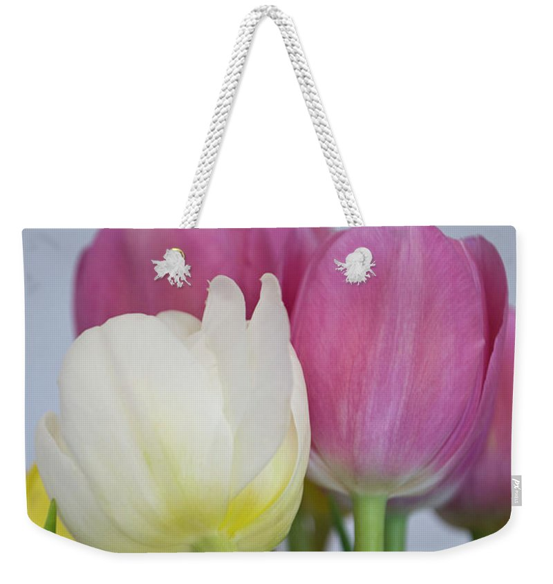 Photography Weekender Tote Bag featuring the photograph Tulips #2 by Ignacio Leal Orozco