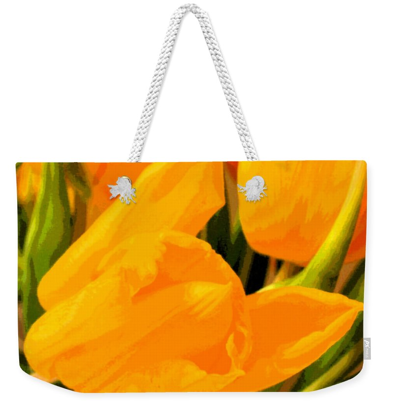 Tulip Weekender Tote Bag featuring the photograph Tulips by Amanda Barcon