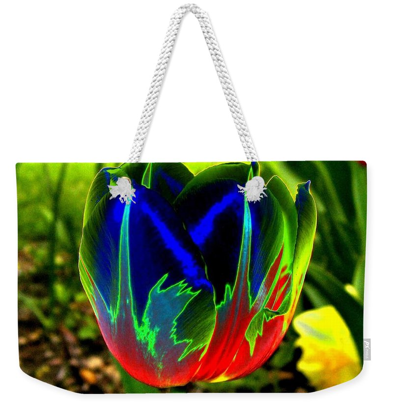 Resplendent Weekender Tote Bag featuring the digital art Tulipshow by Will Borden
