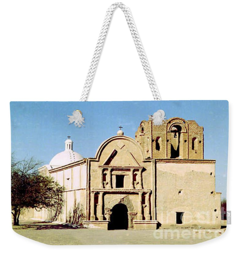 Mission Weekender Tote Bag featuring the photograph Tumacacori by Kathy McClure