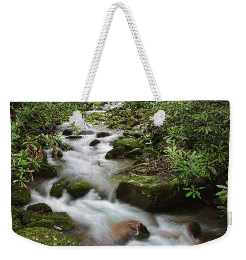 Water Weekender Tote Bag featuring the photograph Tumbling Water by Shari Jardina