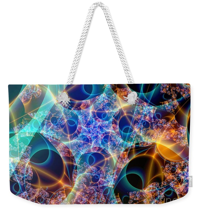 Fractal Art Weekender Tote Bag featuring the digital art Tunica Intima by Ron Bissett