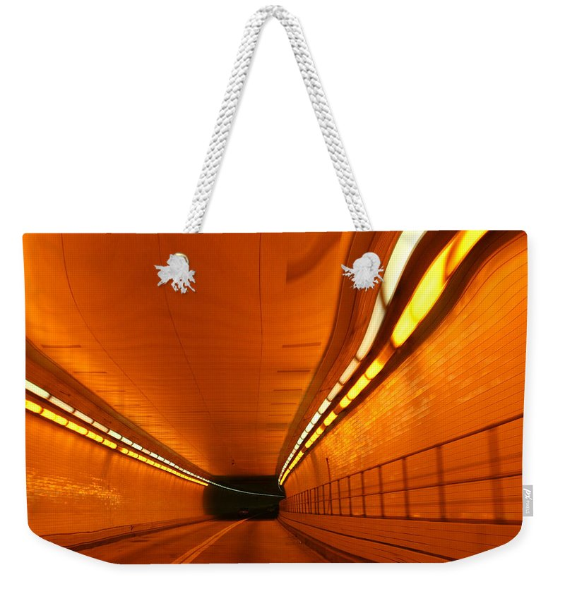 Tunnel Weekender Tote Bag featuring the photograph Tunnel by Linda Sannuti