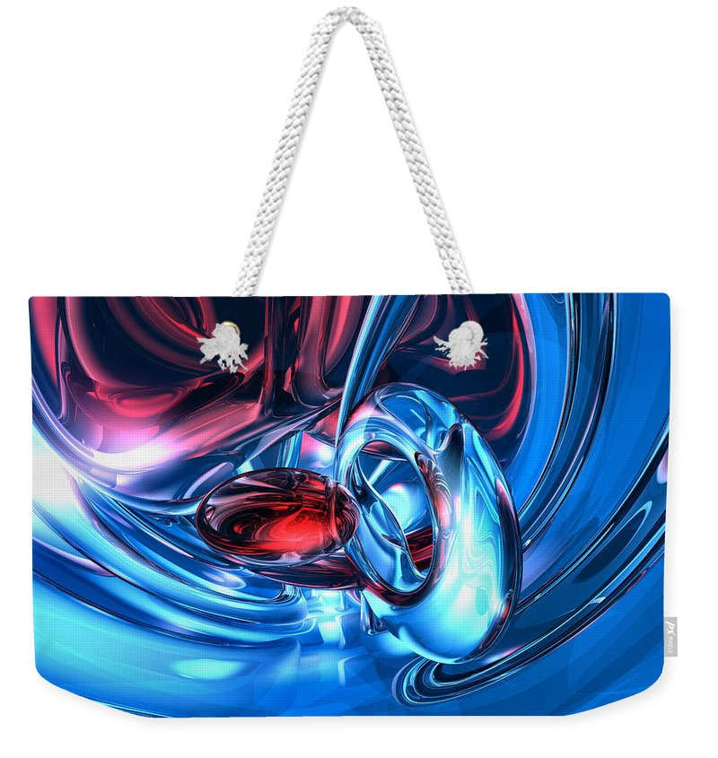 3d Weekender Tote Bag featuring the digital art Tunnel Lust Abstract by Alexander Butler