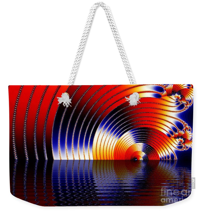 Clay Weekender Tote Bag featuring the digital art Tunnel Of Love by Clayton Bruster
