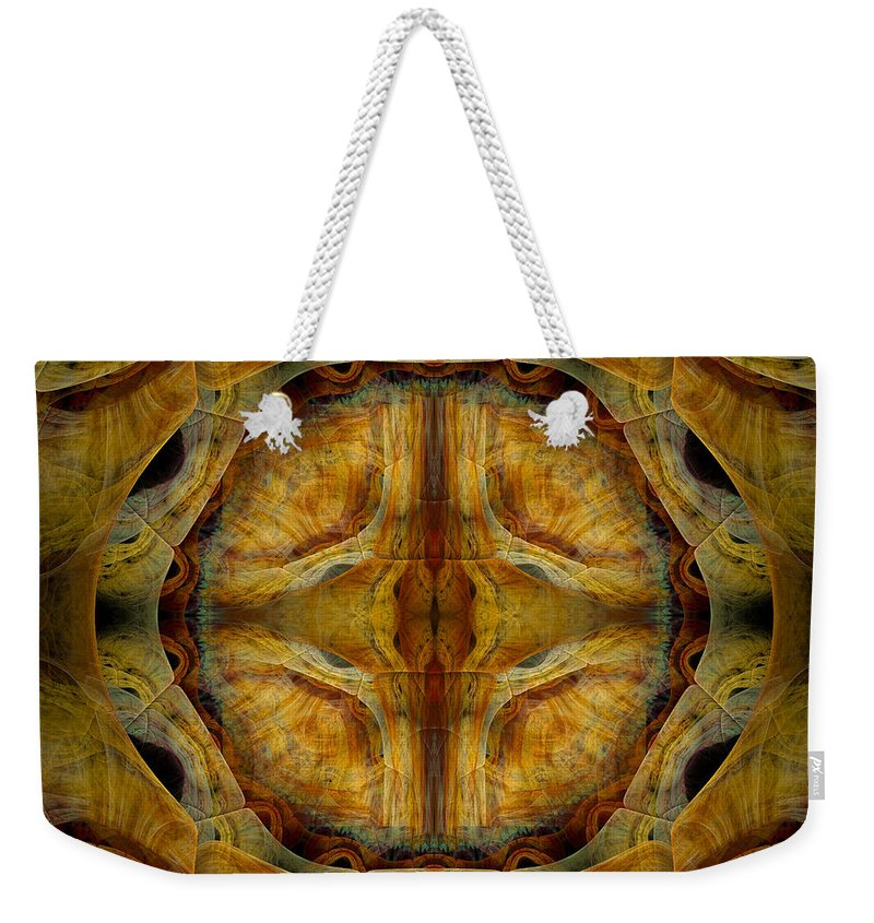 Fractal Weekender Tote Bag featuring the digital art Tunnel Of Separation by Amorina Ashton
