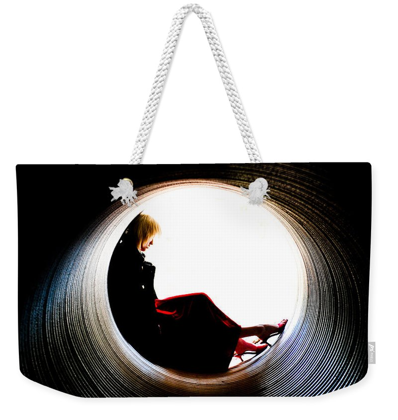 Woman Weekender Tote Bag featuring the photograph Tunnel by Scott Sawyer