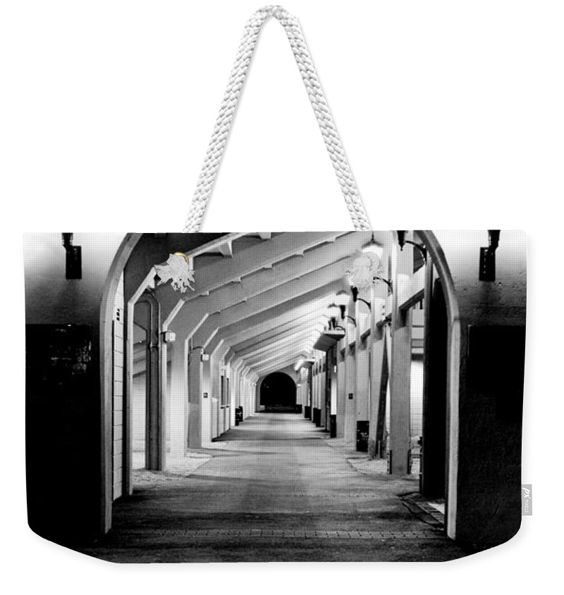 Perspective Weekender Tote Bag featuring the photograph Tunnel Vision by Greg Fortier