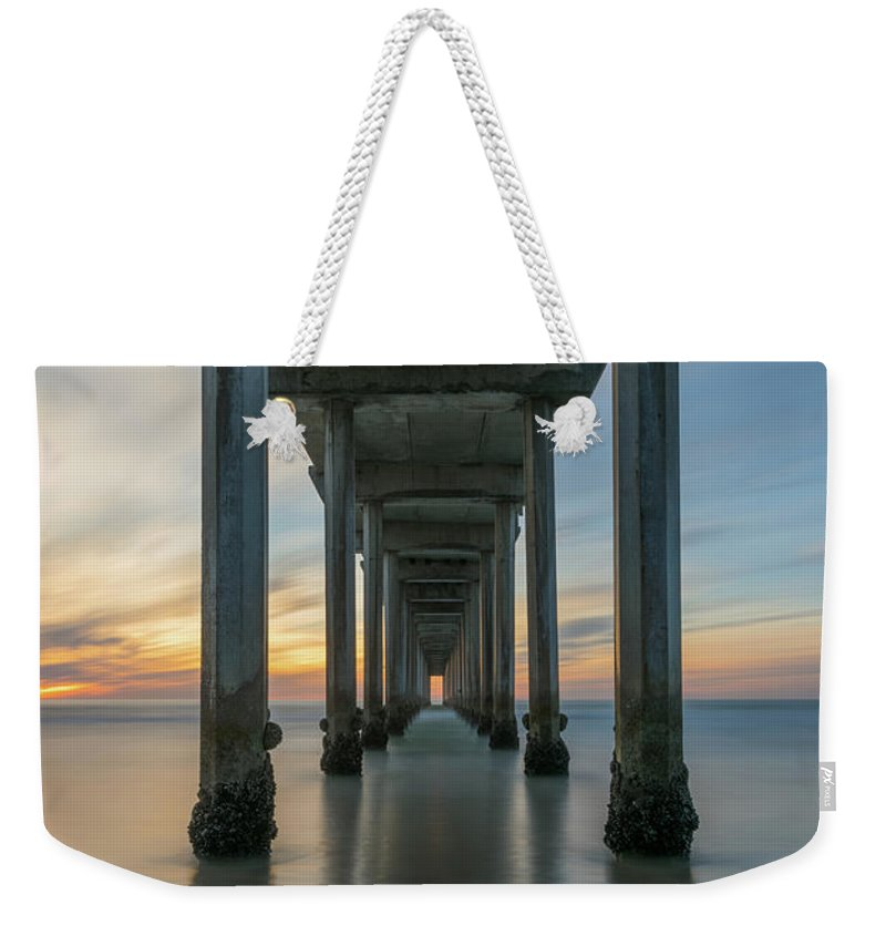 Scripps Pier Weekender Tote Bag featuring the photograph Tunnel Vision by Michael Ver Sprill