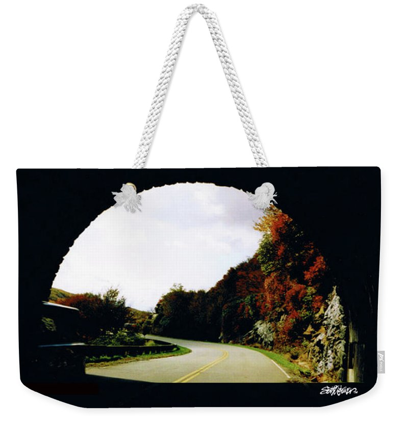 Tunnel Vision Weekender Tote Bag featuring the photograph Tunnel Vision by Seth Weaver