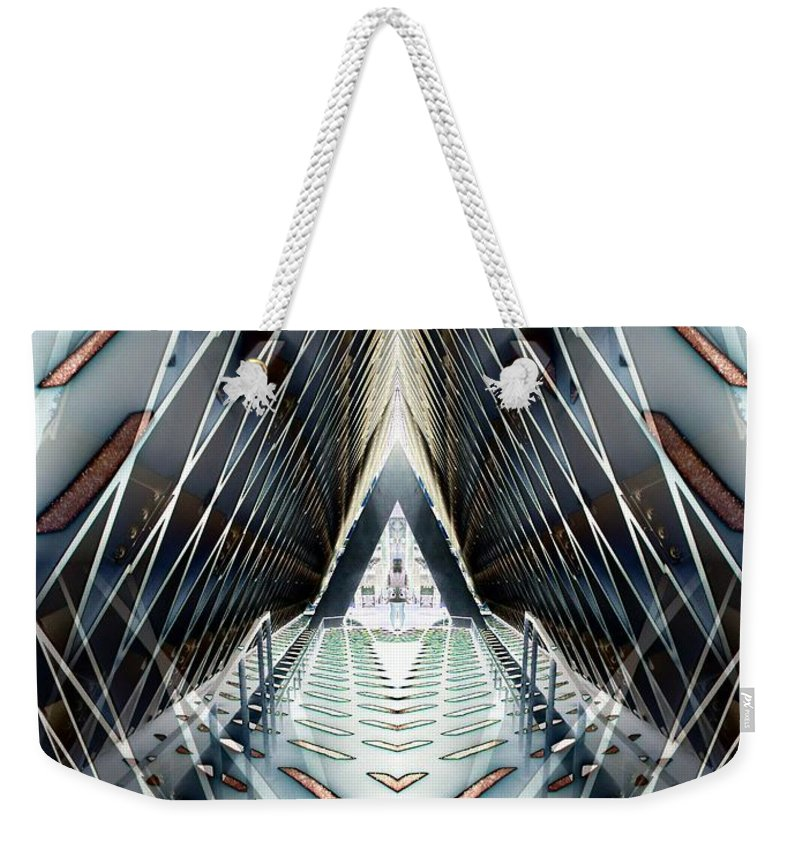 Seattle Weekender Tote Bag featuring the digital art Tunnels End by Tim Allen
