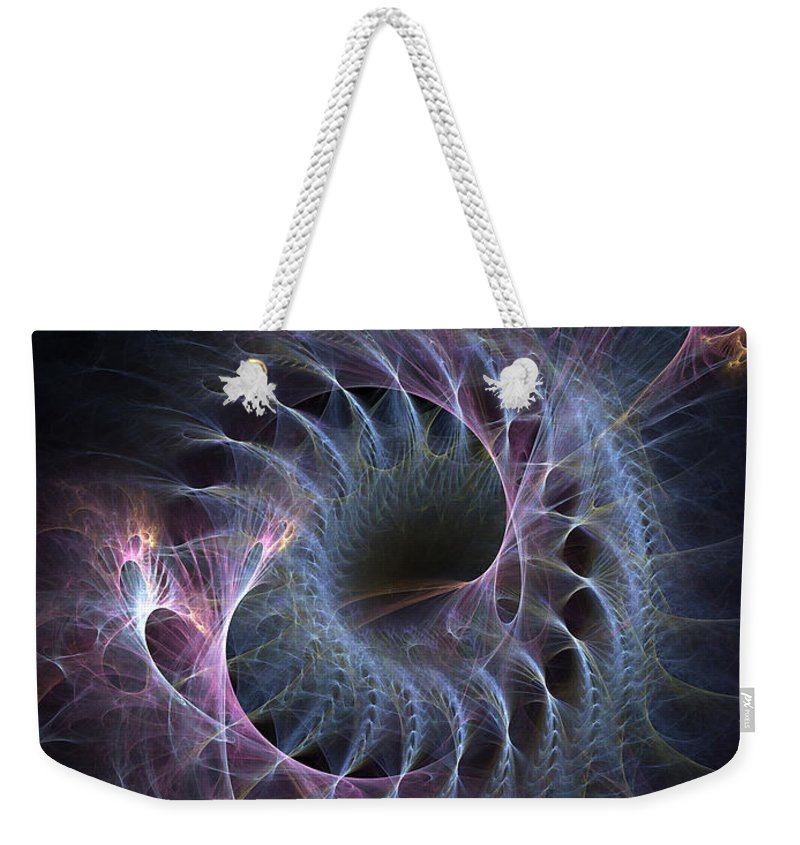 Abstract Weekender Tote Bag featuring the digital art Turbination by Casey Kotas
