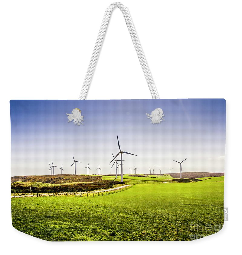Turbine Weekender Tote Bag featuring the photograph Turbine Fields by Jorgo Photography - Wall Art Gallery