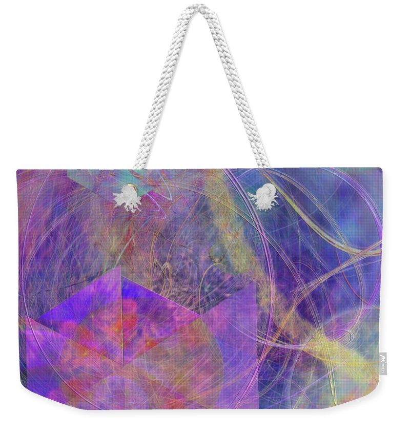 Turbo Blue Weekender Tote Bag featuring the digital art Turbo Blue by John Beck