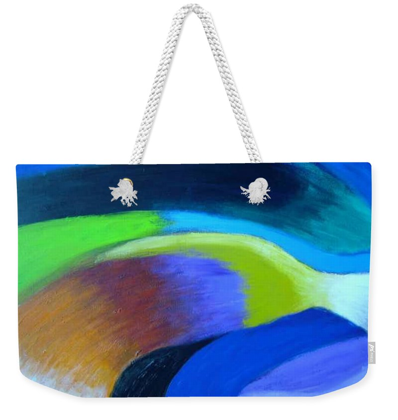 Turbulence Weekender Tote Bag featuring the painting Turbulence by Jan Gilmore