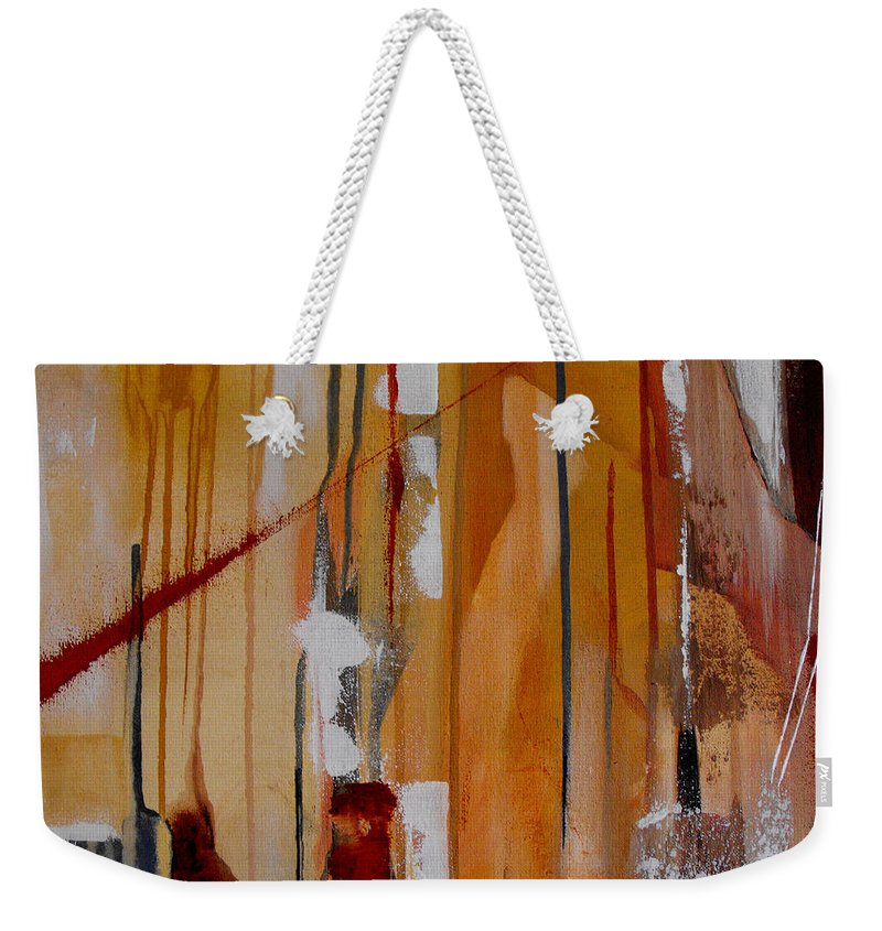 Abstract Weekender Tote Bag featuring the painting Turbulent Times by Ruth Palmer